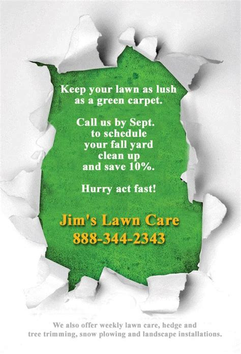 gallery lawn care flyers templates flyer free template business