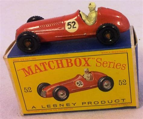 matchbox maserati 1960s lesney matchbox 1948 maserati no 52 boxed