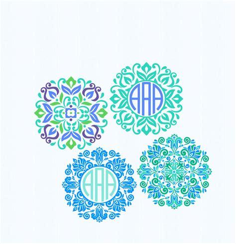 mandala pattern font floral mandala pattern circle monogram frame indian boho