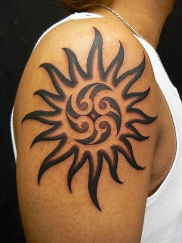tribal sun tattoos for men sun cool tribal sun tattoos ink idea for