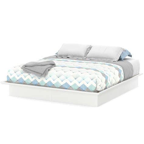 South Shore Bed Frames Platform Bed King Size Sizes White Color Bedroom Frame South Shore Ebay