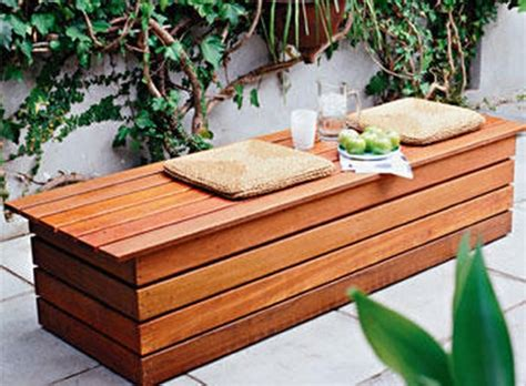 outdoor storage seating bench diy garden storage bench quick woodworking projects