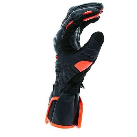 dainese carbon  uzun motosiklet eldiveni siyah kirmizi