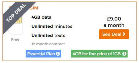 text plus unlimited minutes apk three s 163 9 sim deal now comes with 4gb data for the price of 1gb