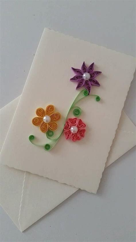 Paper Quilling Greeting Card Tutorial | 1000 ideas about quilling flowers tutorial on pinterest