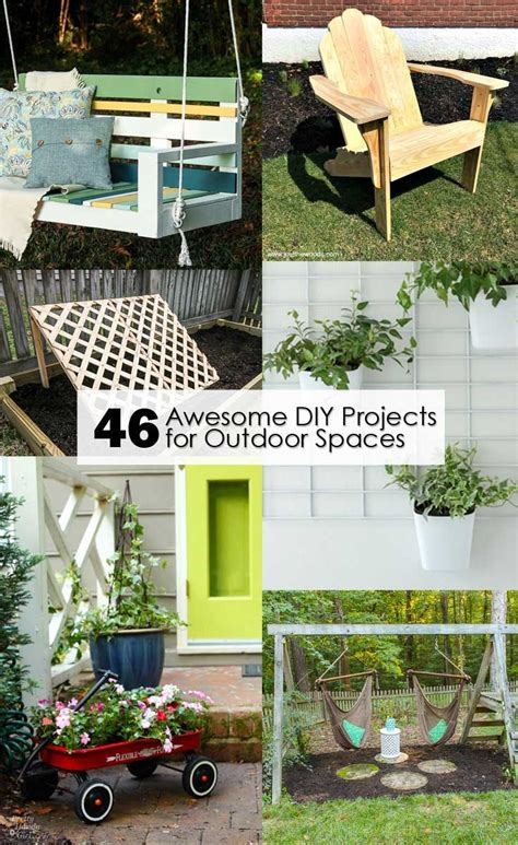 diy outdoor 46 awesome diy projects for outdoor spaces pretty handy