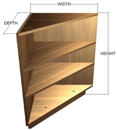 20 Base Cabinet Exposed Interior Corner Shelf Base Cabinet