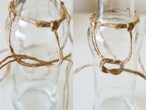 Macrame Square Knot Tutorial - diy macrame bottle vases