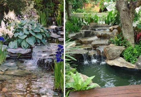 Natursteine F R Terrasse 816 by K 252 Nstlicher Wasserfall Im Teich Gestalten Mit Flachen