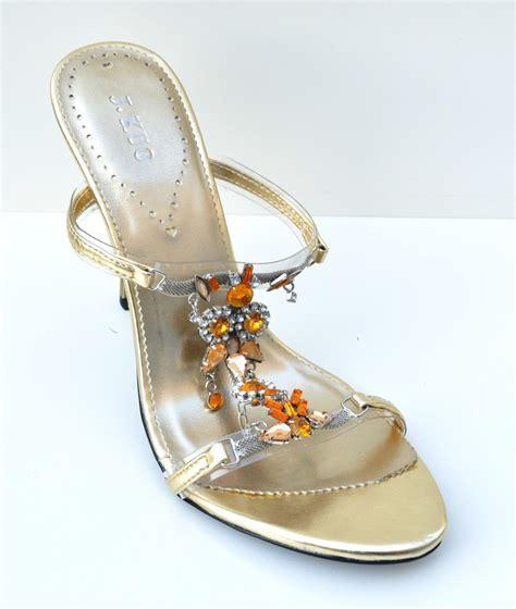 gold dress shoes j kuo gold high heel womens sandals evening dress shoes