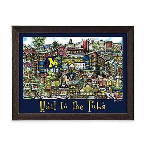 bed bath beyond ann arbor buy pubsof ann arbor framed poster wall art from bed bath