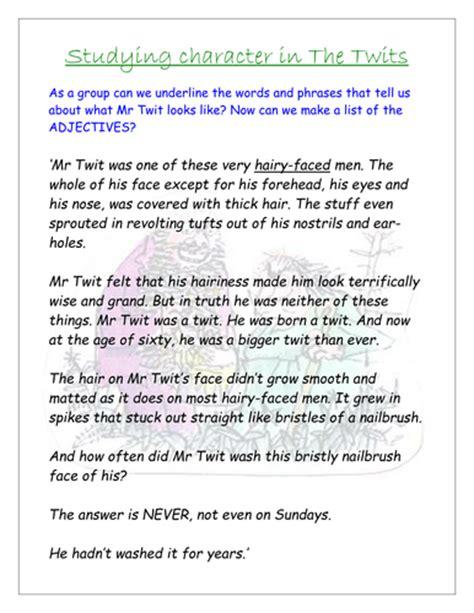 roald dahl biography comprehension ks2 the twits roald dahl by teachercellar uk teaching