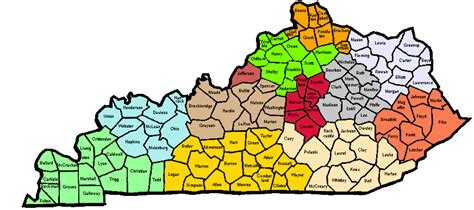 kentucky map by counties printable kentucky map of counties my