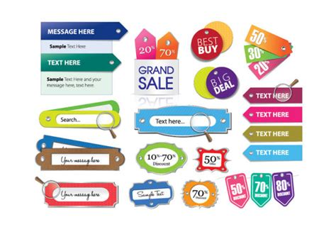 label design eps various stylish colorful label stickers vector vector