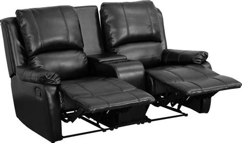 black leather theater recliner black leather pillowtop 2 seat home theater recliner with