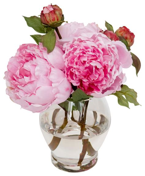 fake flowers vibrant faux peonies traditional artificial flowers