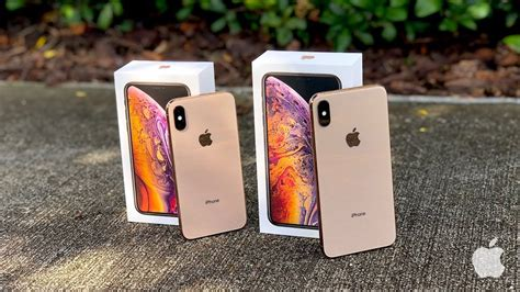 iphone xs vs iphone xs max unboxing with test