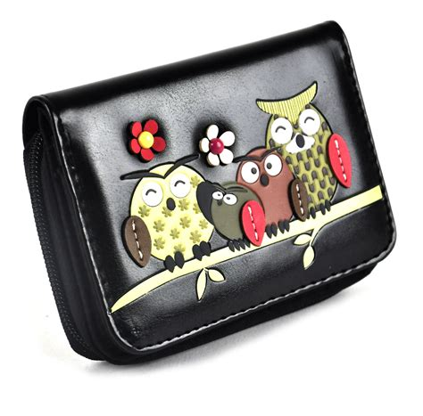 Wallet Owl Black Dompet Panjang owl rest medium wallet black pink cat shop