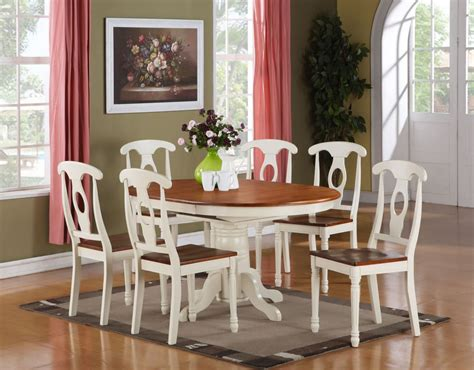 Oval Dining Room Table Sets 5pc Oval Dinette Kitchen Dining Room Set Table With 4 Chairs In Buttermilk Brown Ebay