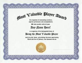 mvp certificate template most valuable player award team mvp awards certificate ebay