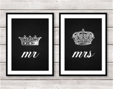 mr printable crown set of two 2 mr and mrs his hers king queen crown a4