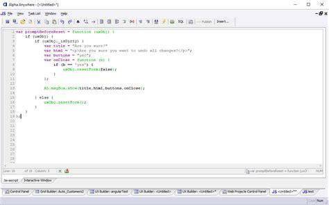 javascript design editor create and link an external javascript file