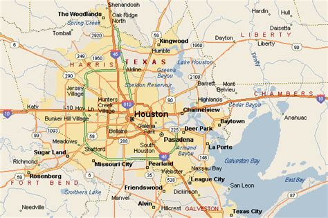 map of texas cities near houston houston map 608ba gif