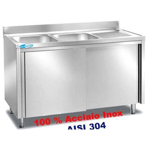 lavello inox 2 vasche lavelli inox attrezzature e forniture professionali per