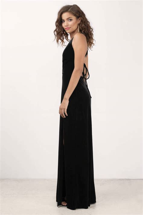 Dress Me Up In Velvet by Embrace Me Black Velvet Maxi Dress 70 00 Tobi