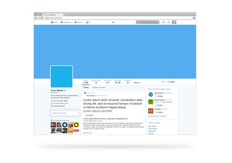 twitter account layout twitter profile template playbestonlinegames