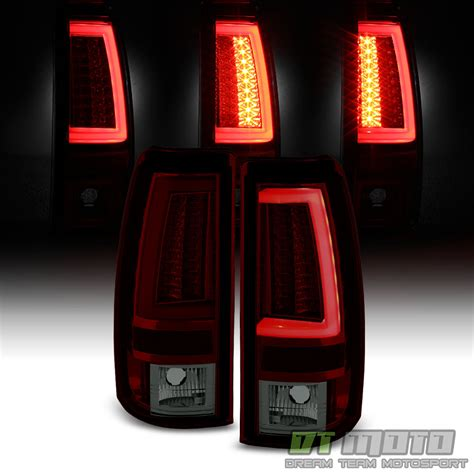 2003 2004 2005 2006 chevy silverado red smoke led tube