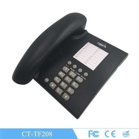 corded phone for home office telephone landline type black