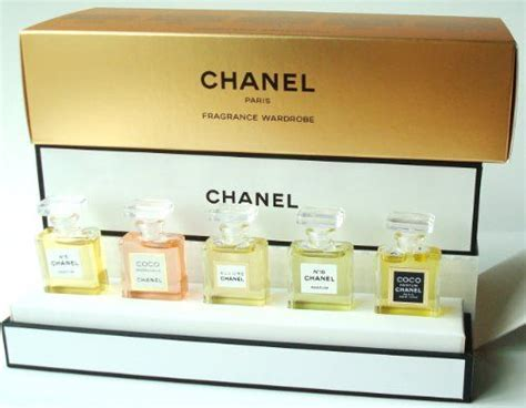 Parfum Set by Chanel Fragrance Wardrobe Miniature Gift Set Of 5 Five