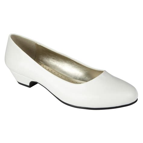 basic editions womens dress shoe renee wide width white