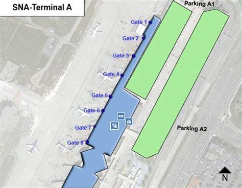 wayne airport map orange county wayne airport sna terminal a map