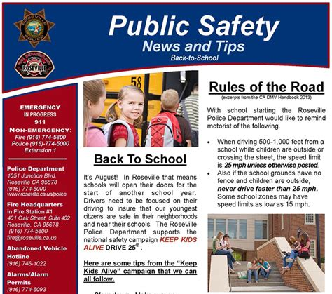 News And Tips by Safety News And Tips August 2013 Tips And