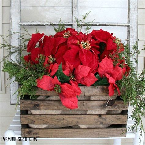 gorgeous ways    plain wooden crate  christmas
