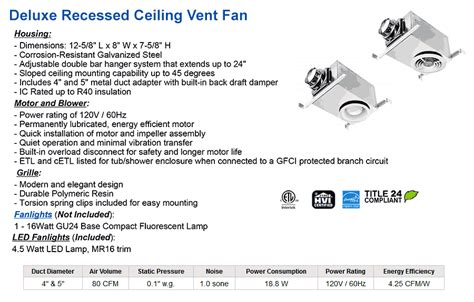 exhaust fan specification pdf bathroom ventilation low cost ceiling exhaust fans