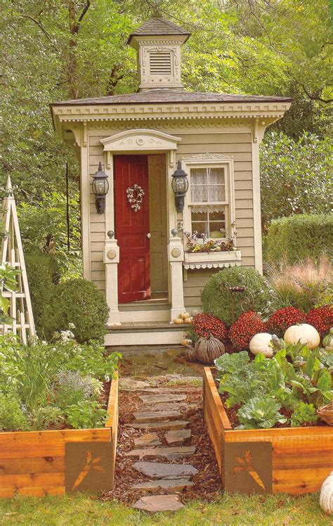 tiny victorian outhouse   small garden shedcabin