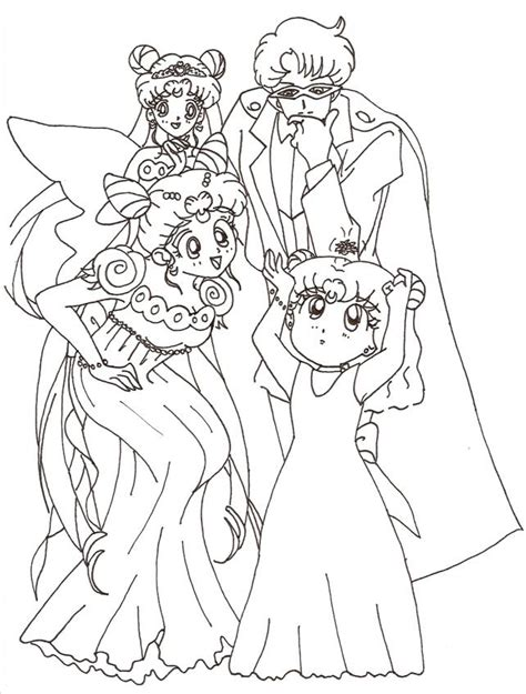 family portrait coloring page moon family portrait by usagisailormoon20 on deviantart