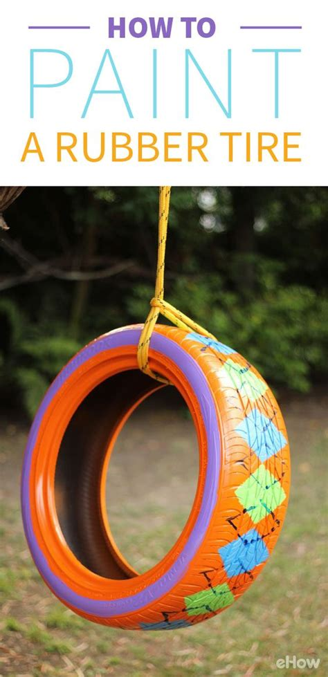 painted tire swing rubber tires transform into and beautiful things on pinterest