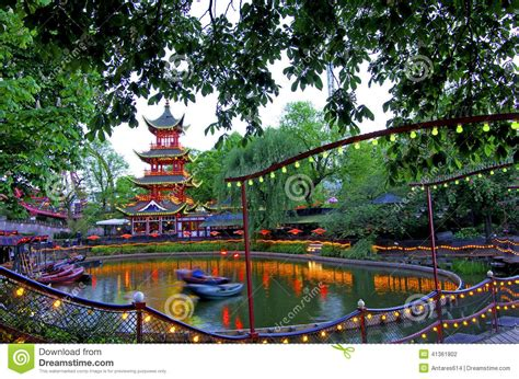 theme park copenhagen tivoli gardens stock photo image 41361802