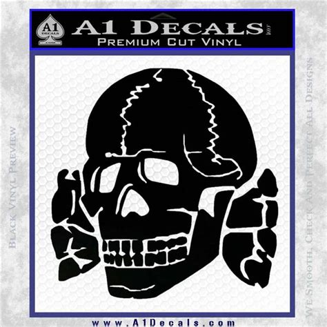 Totenkopf Aufkleber Ss by Totenkopf Death S Head Decal Sticker Wwii Panzer Nazi Ss
