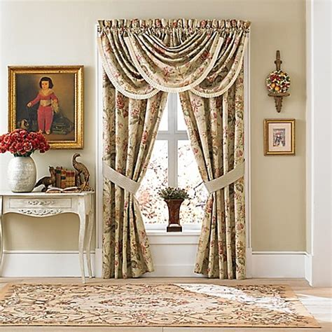 croscill drapes discontinued croscill 174 cottage rose window curtain panel and valance