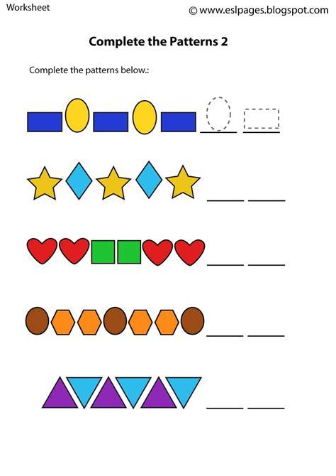 Patterns Worksheets by Esl Pages Patterns Worksheets