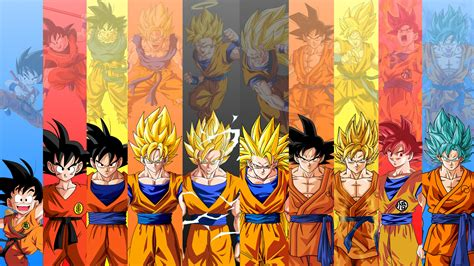 dragon ball wallpaper theme goku evolution dragon ball wallpaper 1339 wallpaper