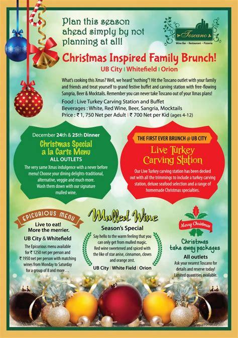 christmas inspired breakfast inspired family brunch ub city whitefield