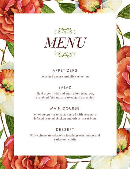fancy menu template customize 67 fancy menu templates canva