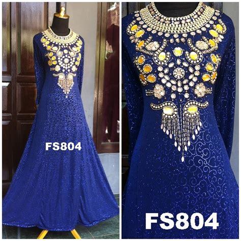 Suplier Baju Muslimah Gamis Cantik Bahan Jaguar Glitter Import Limite 1 fs804bb fika shop