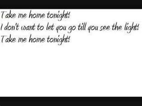 eddie money take me home tonight lyrics letssingit